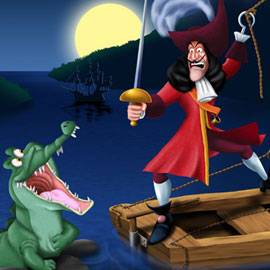 Captain Hook And Tick-Tock-Croc